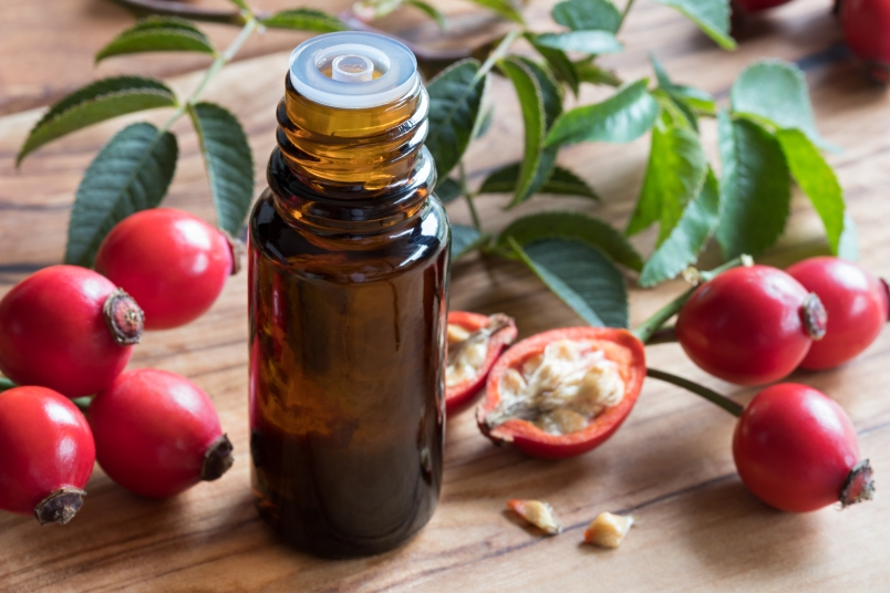 Rosehip Oil for Skin Aging and Dark Circles