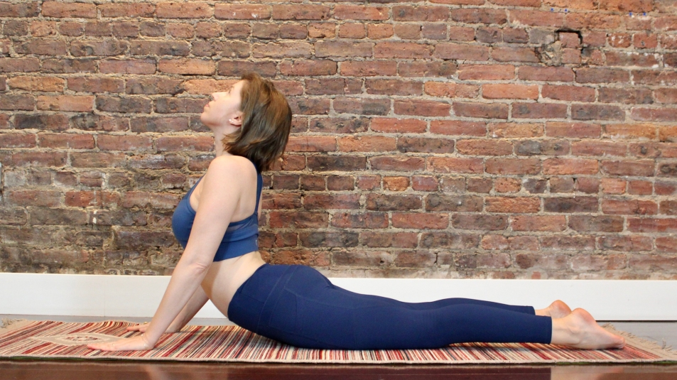 woman in cobra pose