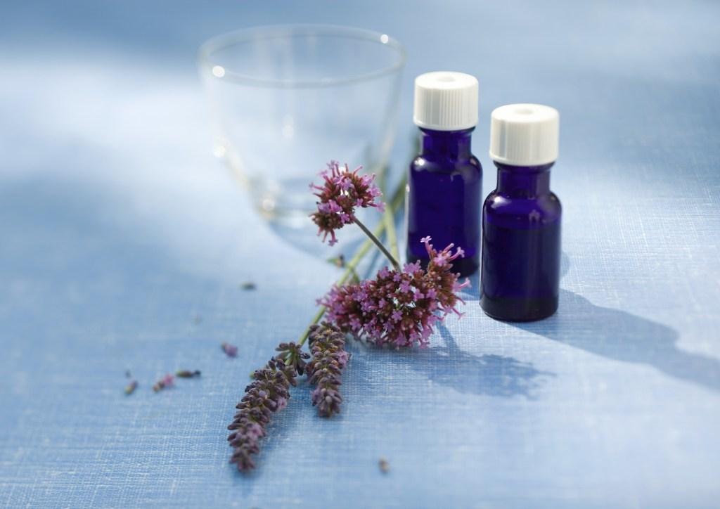 Lavender oil and sprig