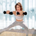 Jillian Michaels exercising