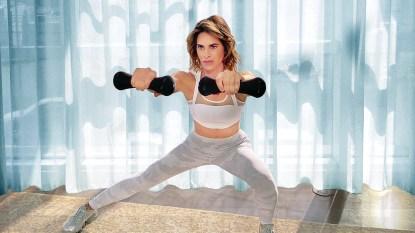 Jillian Michaels exercising