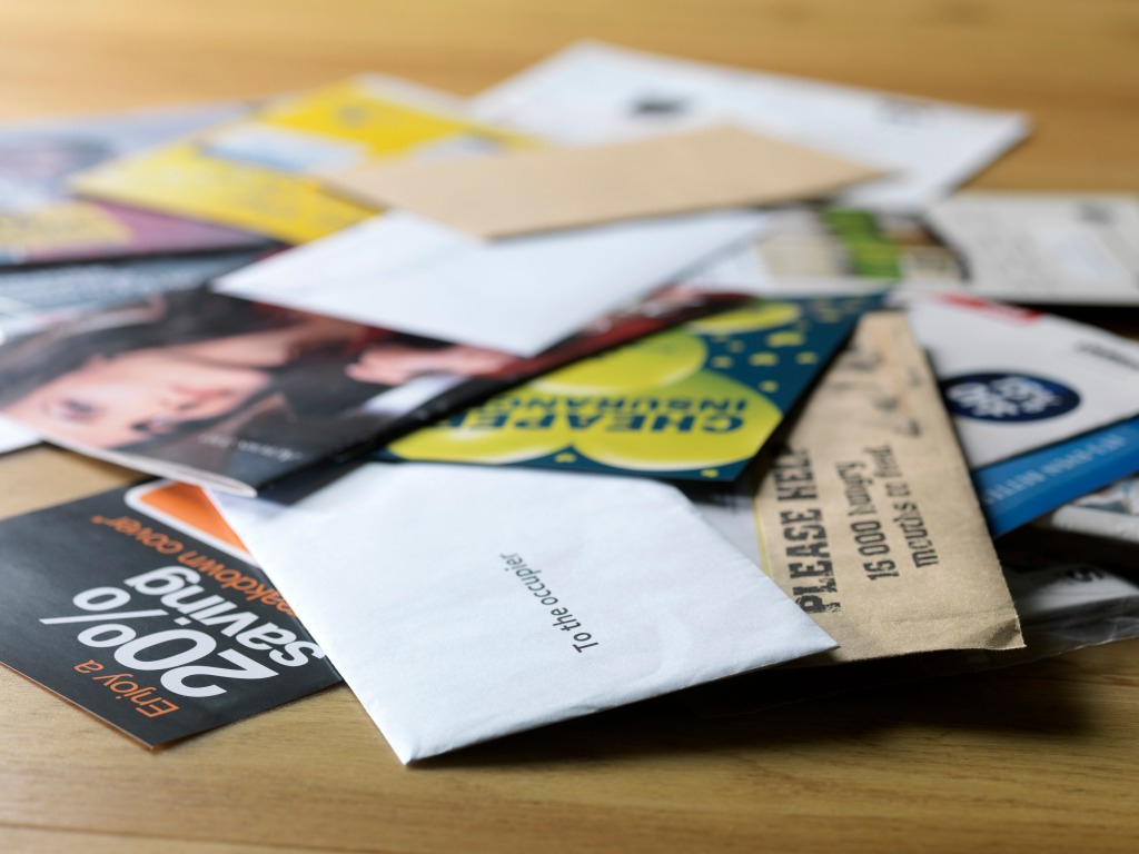 Pile of junk mail