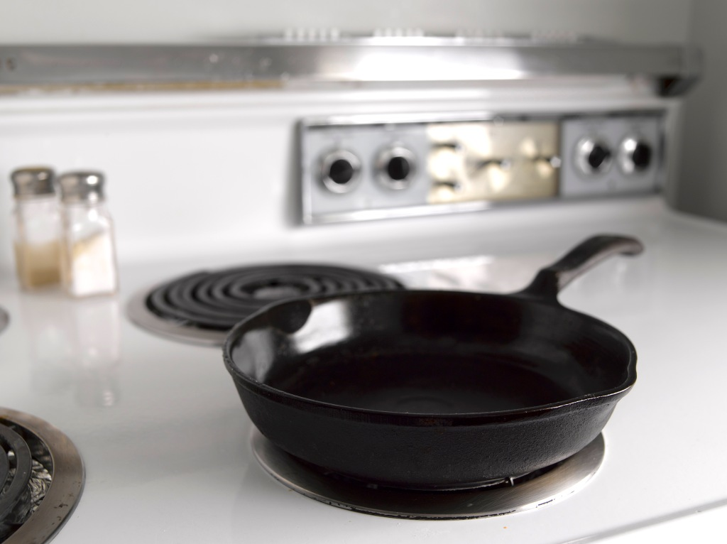 Frying pan on stove