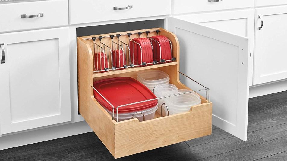 food storage container organizer