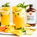 kombucha cocktail with lime
