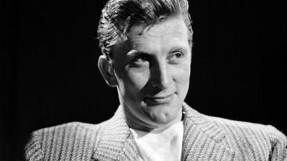 Kirk Douglas posing in 1949