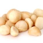 Macadamia Nuts, Isolated on White