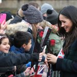 Meghan Markle receives roses from children