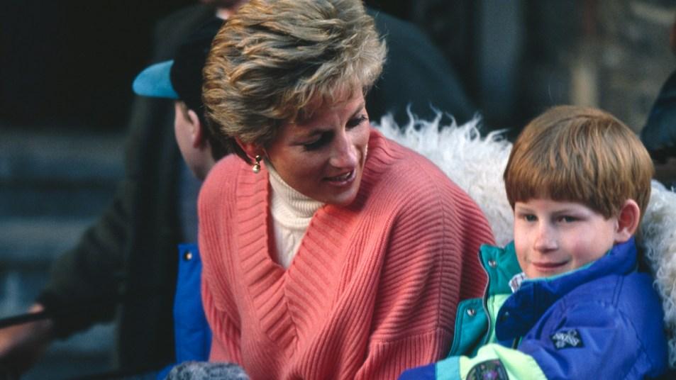 Princess Diana and young Prince Harry