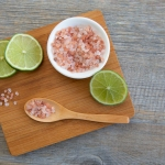 Pink Himalayan salt with lime ready to use in cooking