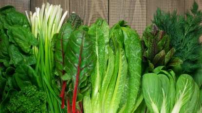 Variety of leafy greens