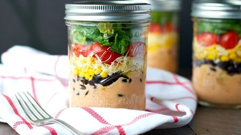 Mason jar chicken salad