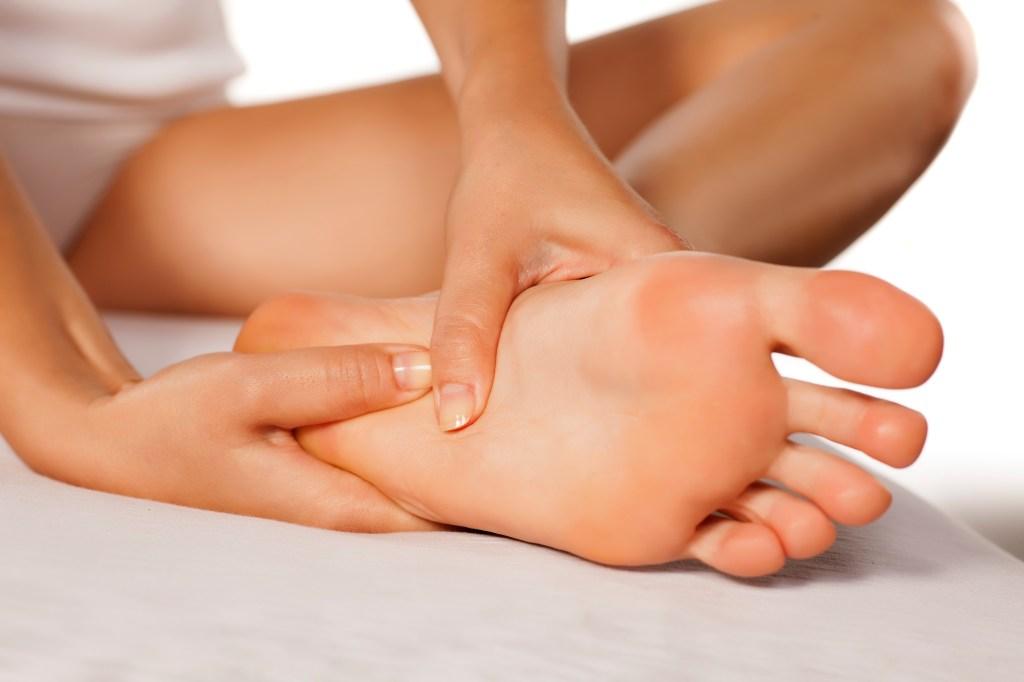 Self-massaging foot
