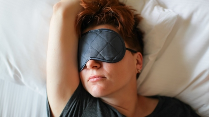 woman sleeping with eye mask