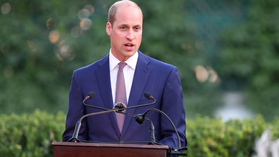 Prince William giving a speech