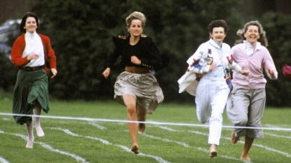Princess Diana running