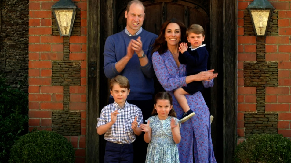Prince William, Kate, and all three children