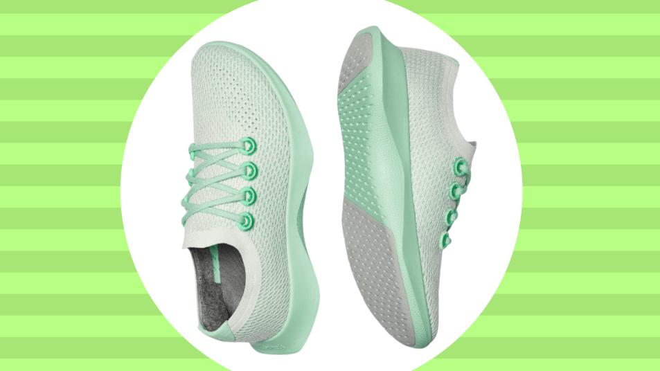 allbirds running shoes in green