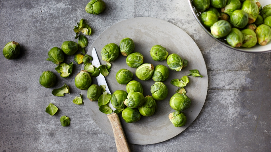 Plate of Brussels sprouts