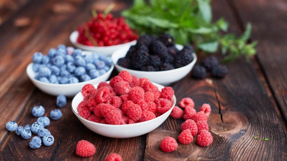 Bowls of berries