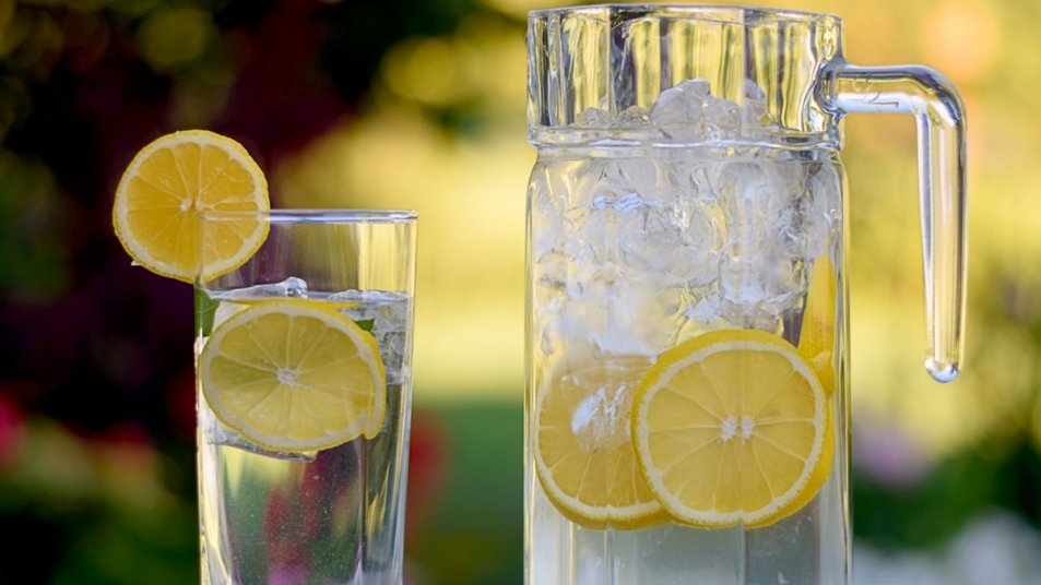 Pitcher of water with lemon