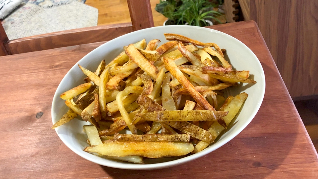Plate of oven fries