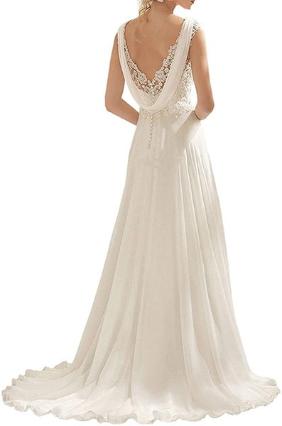 Amazon long wedding dress