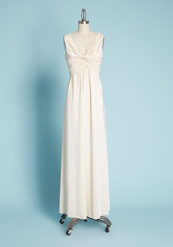 ModCloth twist front long wedding dress