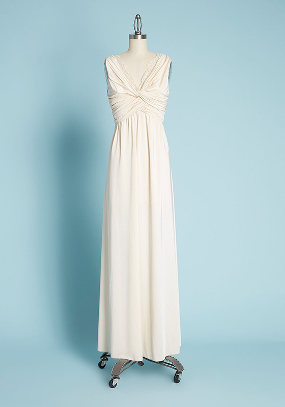 ModCloth twist front long wedding dress