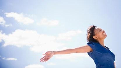 black woman in sunshine