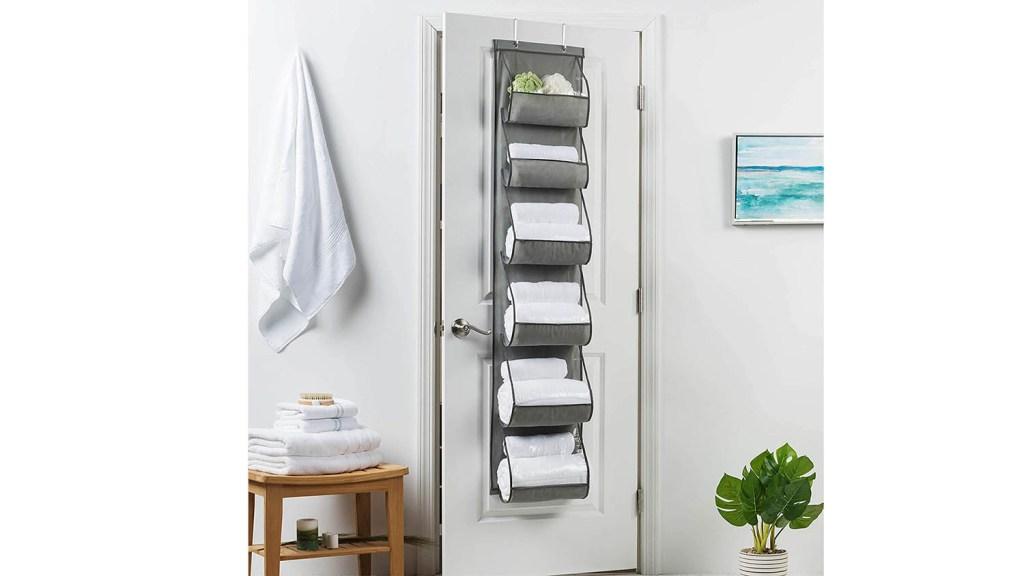 bathroom towel storage over the door