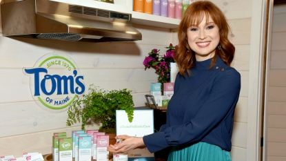 Ellie Kemper with Tom's of Maine products