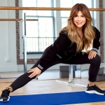 Paula Abdul stretching
