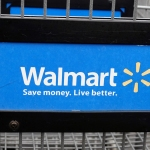 Walmart logo in shopping cart