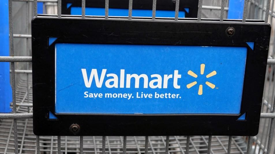 Walmart logo in shopping cart