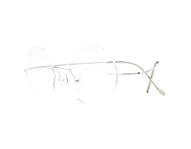 rimless eyeglass frames
