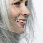 woman with beautiful gray hair