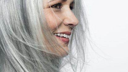 woman with beautiful gray hair