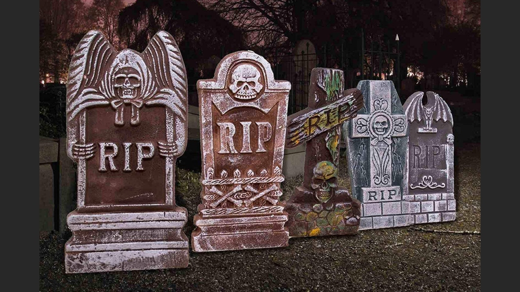 foam tombstones halloween