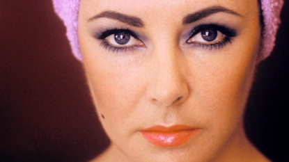 Close up of Elizabeth Taylor's eyes