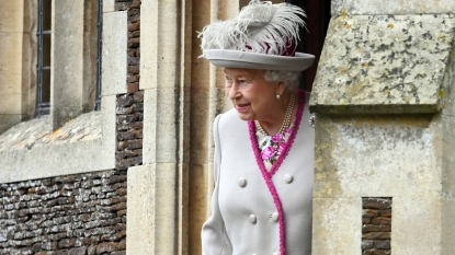 Queen Elizabeth at Sandringham House