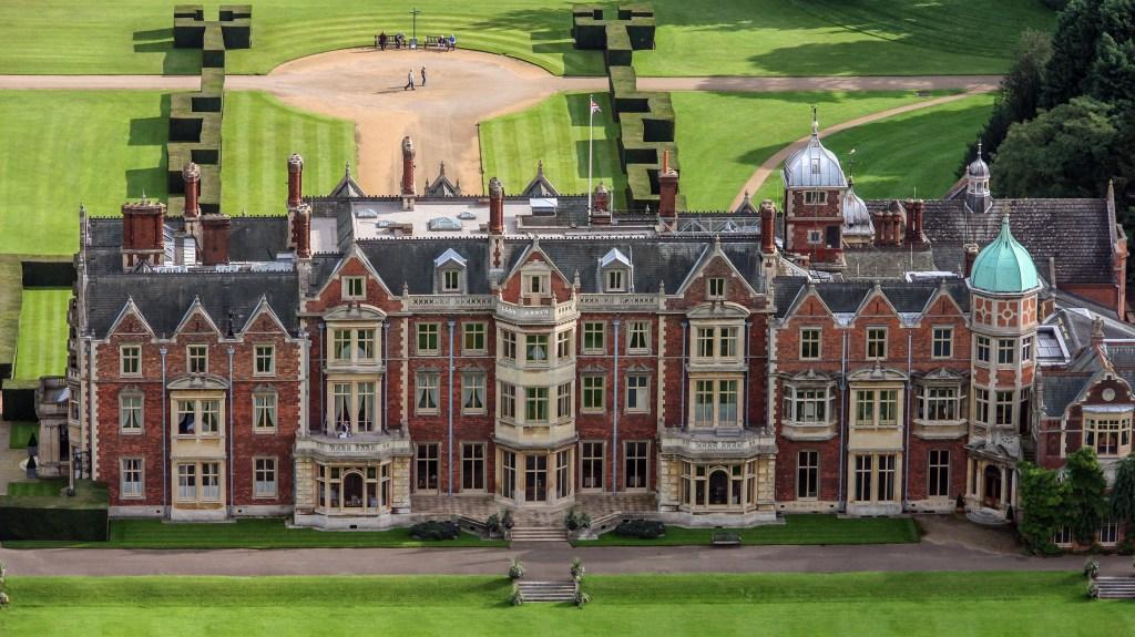 Aerial view of Sandringham House