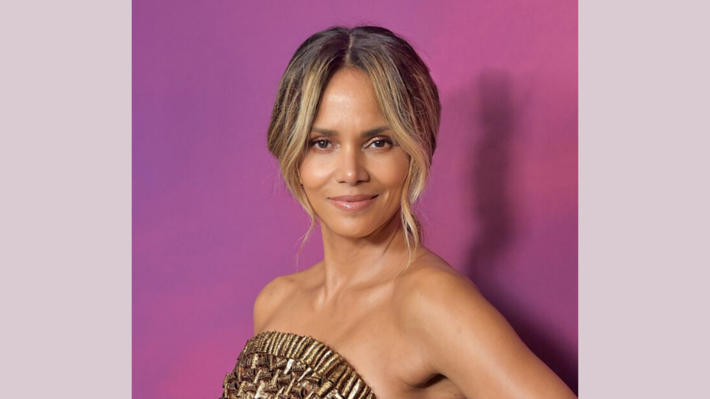Halle Berry hair and makeup for holidays