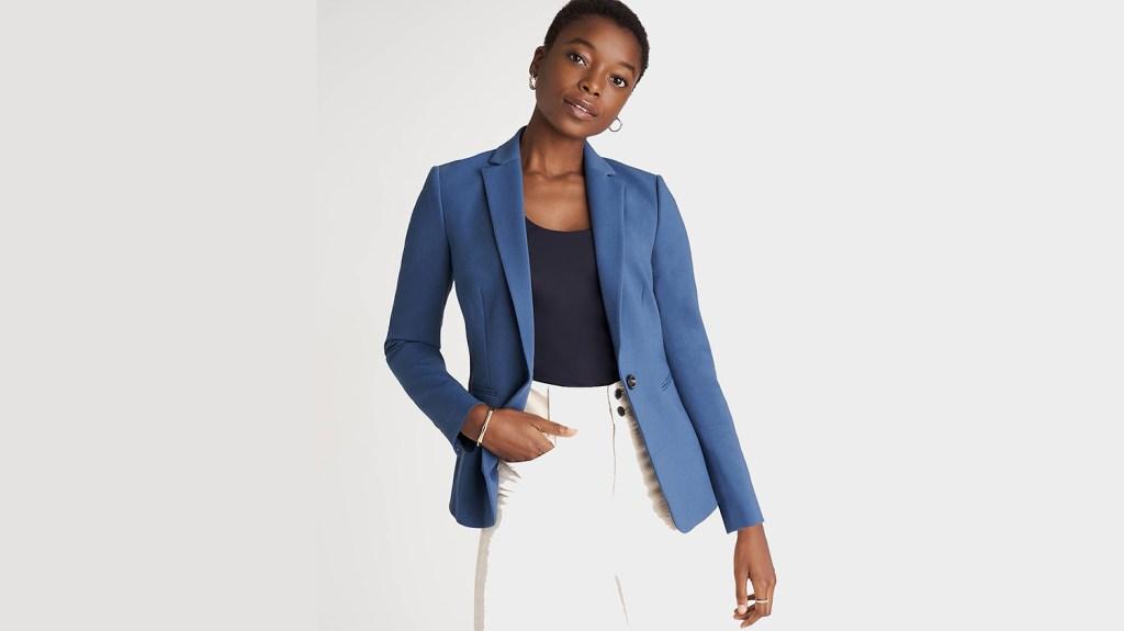 ann taylor blue blazer