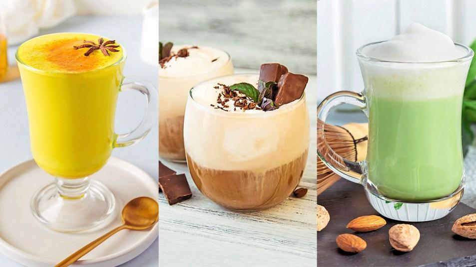 Coconut milk lattes