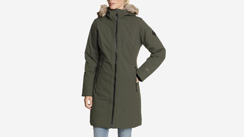 olive green stadium coat