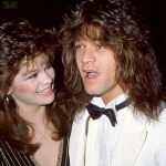 Valerie Bertinelli and Eddie Van Halen at an even in the 80s