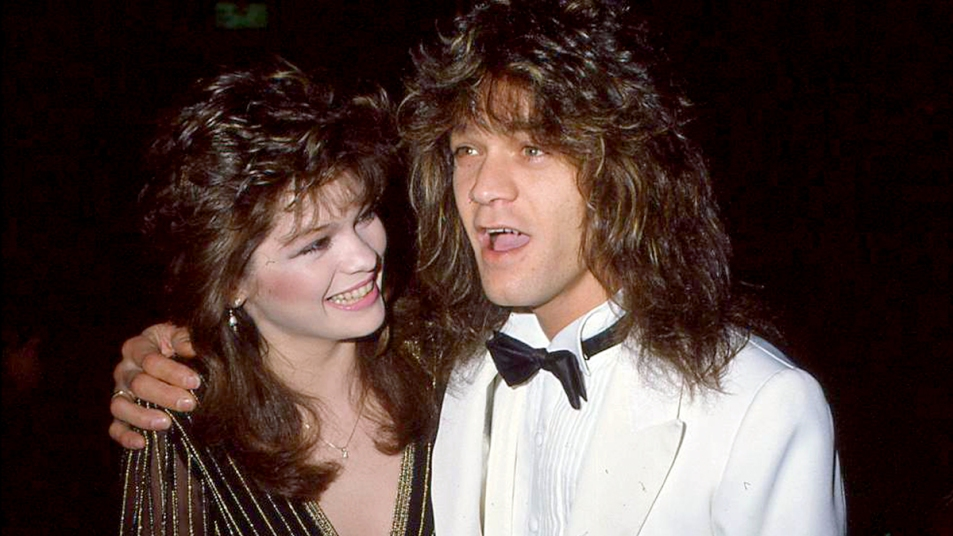 Valerie Bertinelli and Eddie Van Halen at an even in the 80s