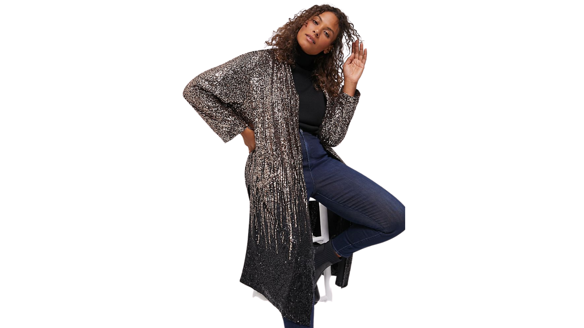 sequined duster
