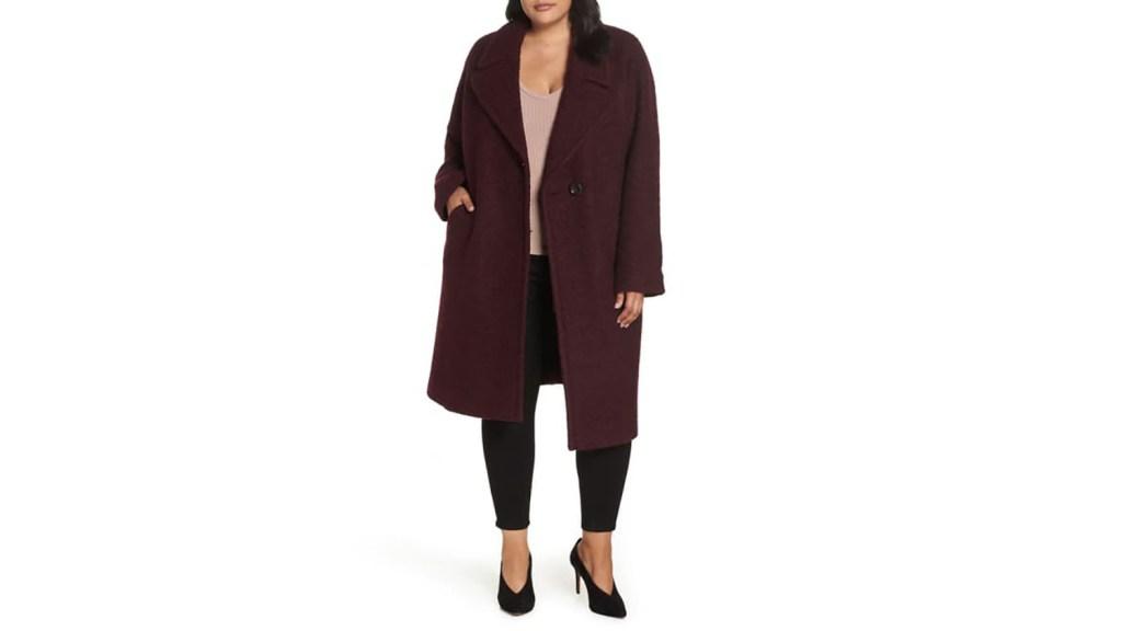 boiled wool winter coat